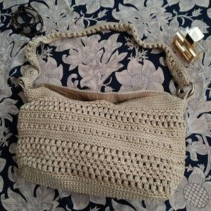 The Sak Hobo Shoulder Bag Crocheted Bohemian Beach